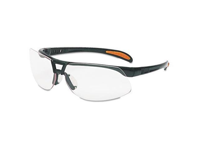 Uvex Safety Protege Floating Lens Eyewear - Scratch Resistant, Comfortable, Flexible, Lightweight, Cushioned, Temple Tip