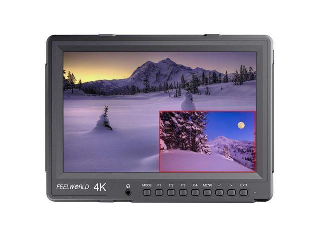 2560x1600 Feelworld 4K101HSD-256 10.1 IPS Panel 4K Broadcast Director Monitor with Dual Split Display