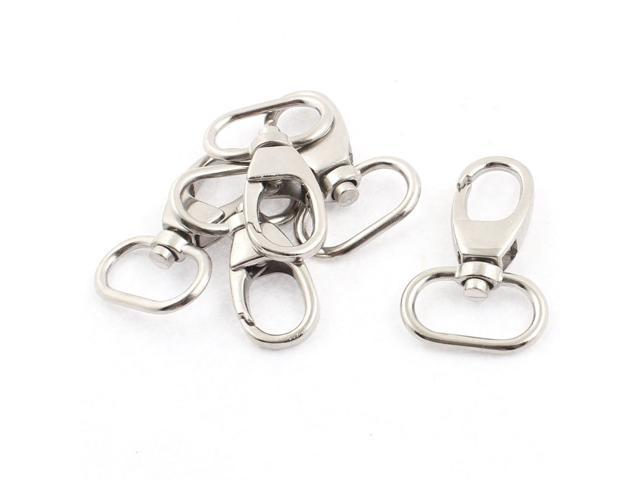 Unique Bargains 4cm x 2.5cm Metal Bag Purse Hook Swivel Lobster Clasp Clip Silver Tone 5pcs (602451257257 Toys & Games) photo