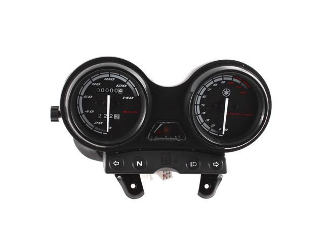 0-140km/h Motorcycle Dual Odometer Tachometer Speedometer Gauge Assembly for YBR