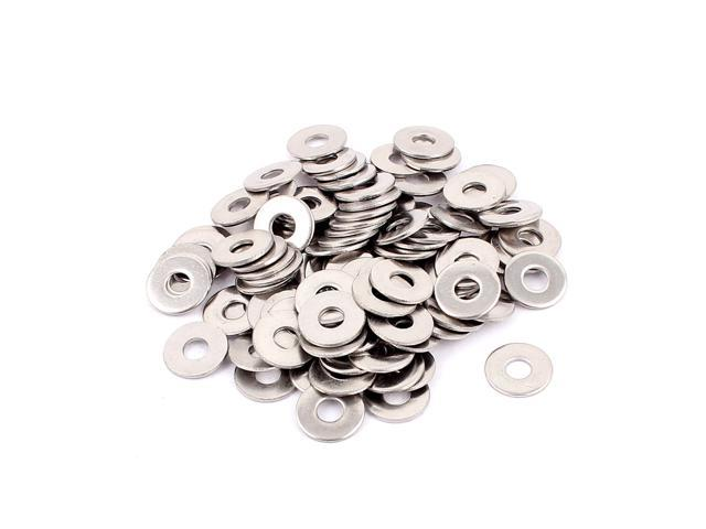 Screws Repair Part 4mm 304 Stainless Steel Flat Washer Spacer 100pcs photo