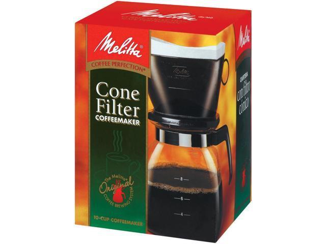 Melitta 10 Cup Drip Cone Black Coffee Maker 640616 photo