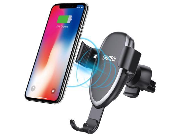 timeless design ef750 c46df CHOETECH T536S Wireless Car Charger, 7.5W For iPhone XR, XS, XS Max, X 8 8  Plus, 10W Fast Wireless Charger Car Mount Air Vent Phone Holder for Galaxy  ...
