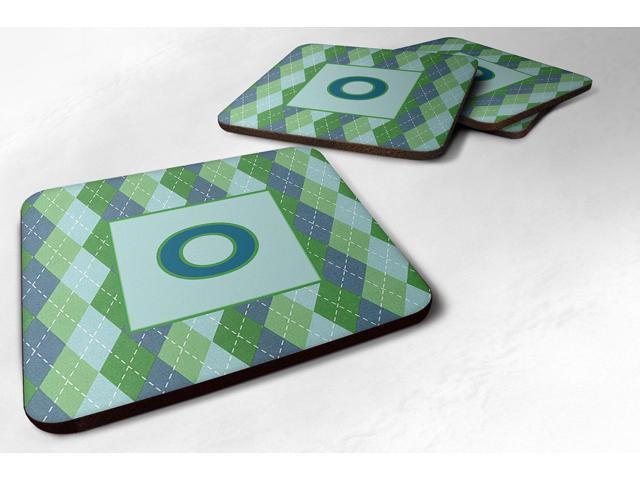 Carolines Treasures CJ1020-OFC Monogram - Blue Argoyle Foam Coasters Initial Letter O, Set - 4 photo