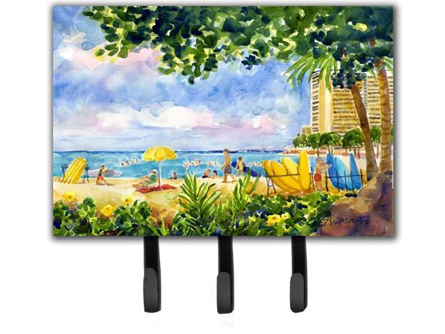 Beach Resort view from the condo Leash Holder or Key Hook (615872510399 Arts & Entertainment Artwork) photo