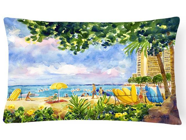 Beach Resort view from the condo Decorative Canvas Fabric Pillow (705332241731 Home & Garden) photo