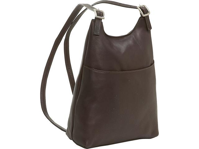 Le Donne Leather Women's Sling BackPack Purse, Café (699884002516 Luggage & Bags) photo