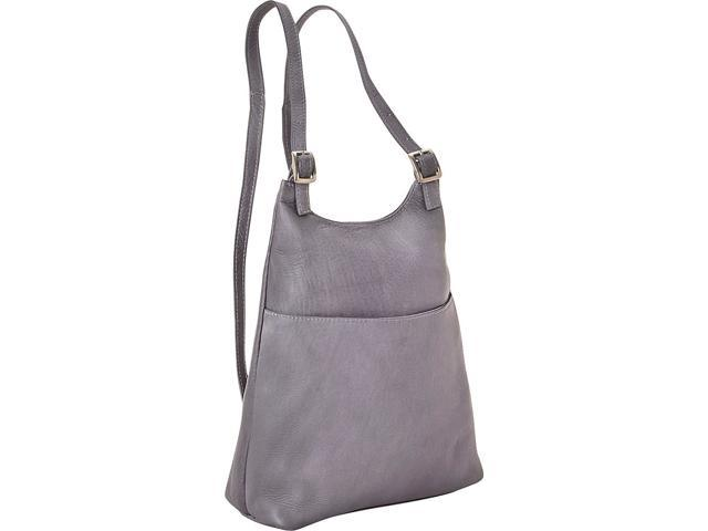 Le Donne Leather Women's Sling BackPack Purse, Gray (699884009102 Luggage & Bags) photo