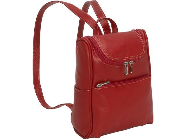Le Donne Leather Women's Everyday Backpack Purse (Red) (699884006910 Luggage & Bags) photo