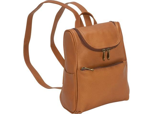 Le Donne Leather Women's Everyday Backpack Purse (Tan) (699884006903 Luggage & Bags) photo
