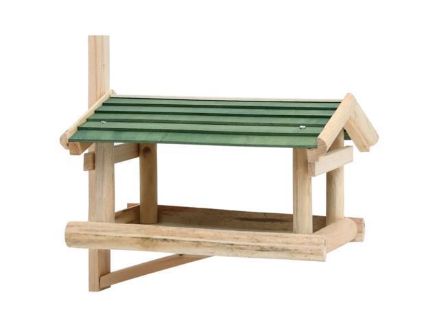 vidaXL Bird Feeder Solid Wood 13.8'x11.6'x8.3' (Furniture Outdoor Furniture) photo