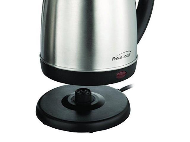 Brentwood KT-1780 Stainless Steel Electric Cordless Tea Kettle, 1.5 L, Silver photo