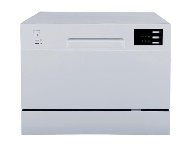 Countertop Dishwasher with Delay Start & LED - Silver photo