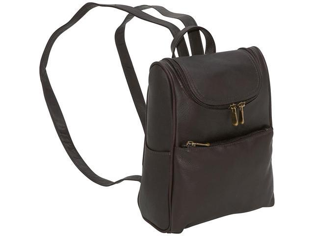 Le Donne Leather Women's Everyday Backpack Purse (Caf ©) (699884006927 Luggage & Bags) photo