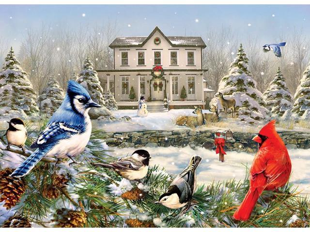 Cobble Hill - 1000 Piece Puzzle (COUNTRY HOUSE BIRDS) (625012801195 Home & Garden Kitchen & Dining) photo