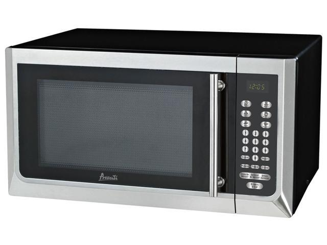 Avanti MT16K3S - 1.6 CF Touch Microwave - Black w/Stainless Steel Door Front and Handle photo