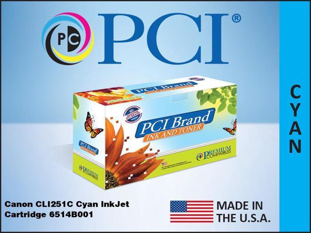 PCI Canon 6514B001AA PIXMA CLI-251C Cyan Ink, CLI251C-PCI
