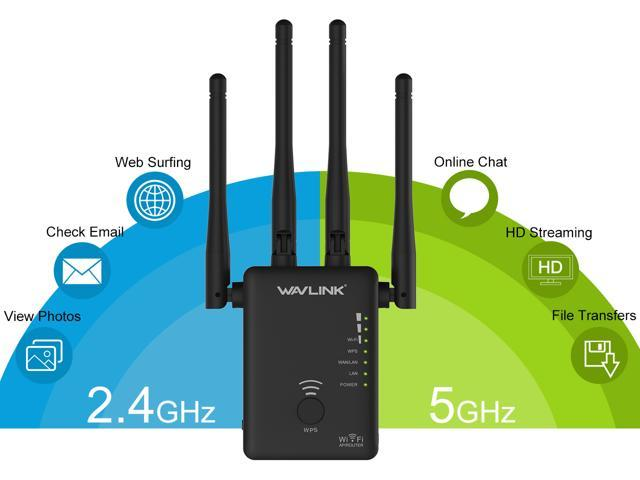 AC1200 WIFI Repeater,2.4G 5G 1200mbps Router /& Wireless Range Extender US Stock