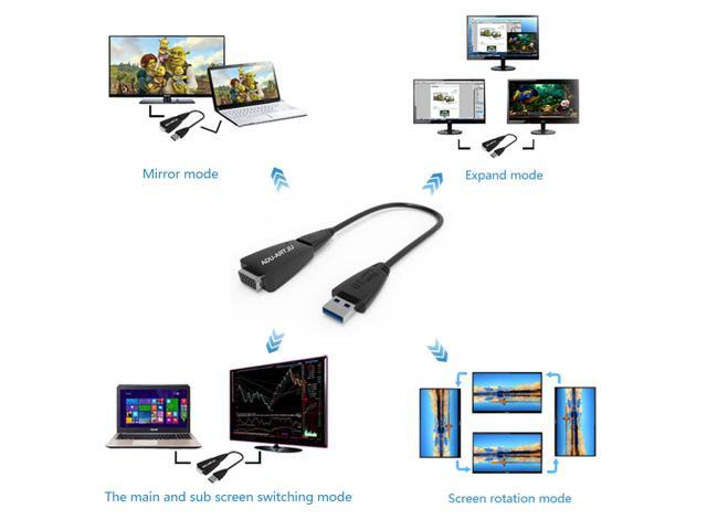 USB 3.0 2.0 to VGA Multi-display Adapter Converter External Video Graphic Card