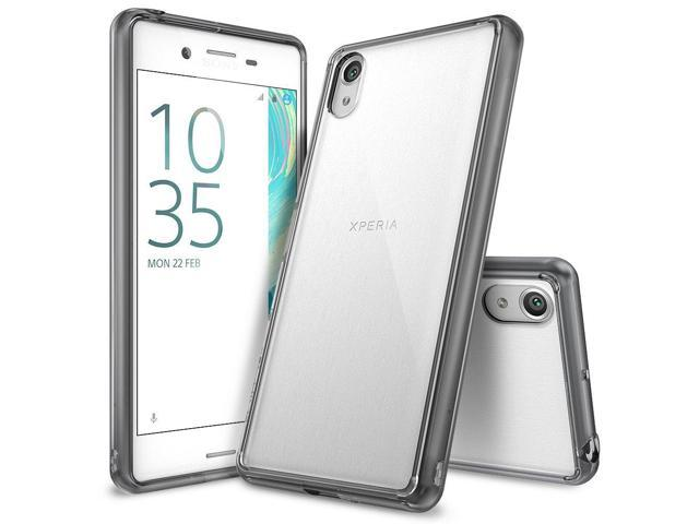 Ringke [FUSION] Compatible with Sony Xperia X Case, Crystal Clear PC Back TPU Bumper [Drop Protection/Shock Absorption Technology] Raised Bezels. (Electronics Communications Telephony) photo
