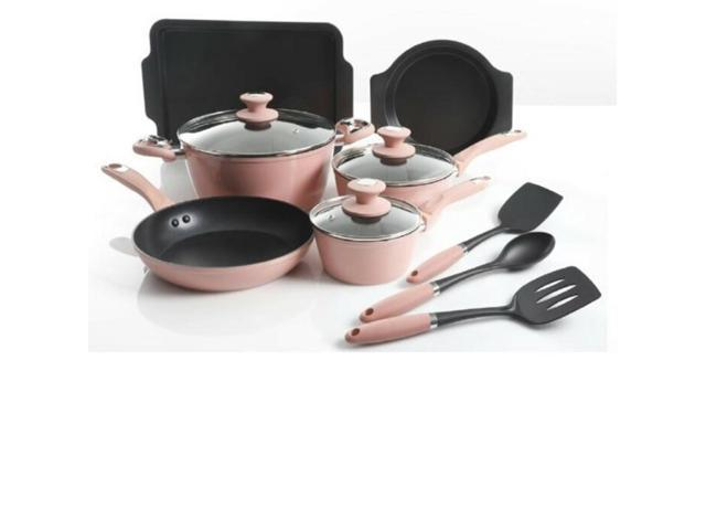Gibson Overseas 12 Piece Induction Cookware, Rose 124925.12 photo