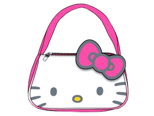 Handbag - Hello Kitty - Kitty Face New Purse Bag Girls Toys Gifts 025044 (727379025044 Luggage & Bags) photo