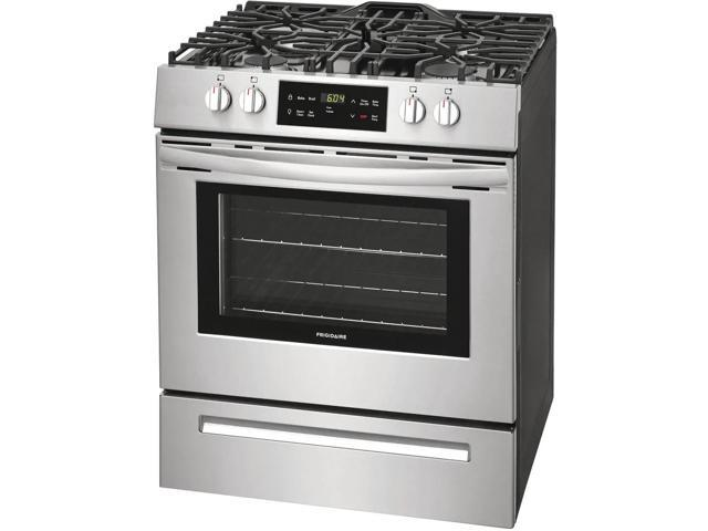 Frigidaire FFGH3051VS 30 Inch Slide-in Gas Range with 4 Sealed, Burners, Self-Cleaning Mode, Storage Drawer, ADA Compliant, Cast Iron Grates in. photo