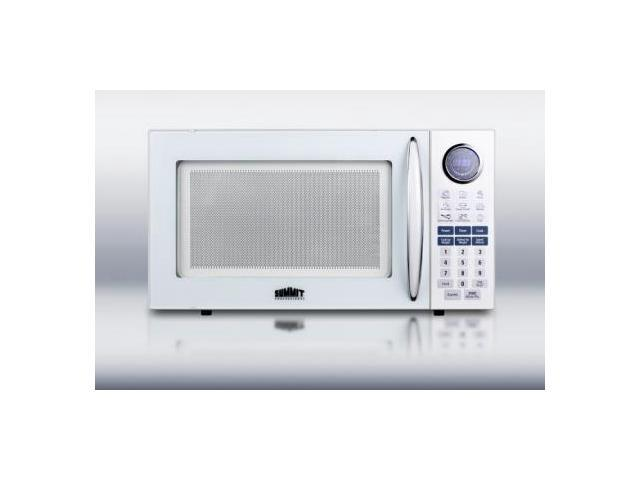Summit SM1102WH 1 cu. ft. Capacity Full-Sized Microwave Oven With Multiple Power Levels End of Cycle Ring Rotary photo