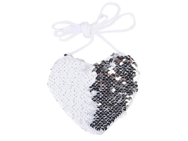 Heart Shaped Handbags for Children, Huazi2 Cute Girls Mermaid Sequins Coin Purse Wallet Mini Messenger Bag (640180787683 Electronics Audio Audio Components) photo