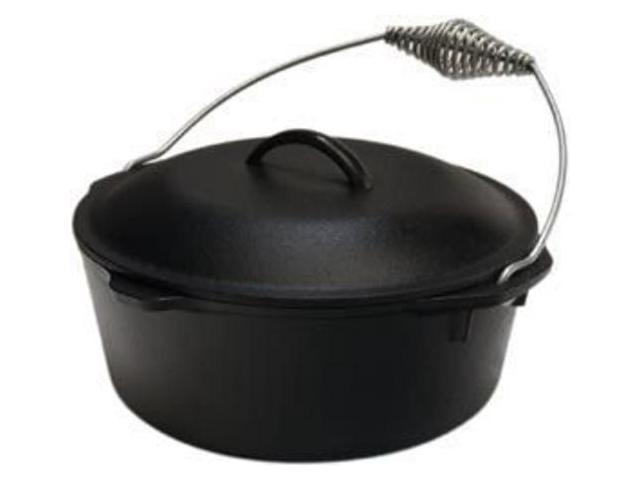 Lodge L8DO3 Dutch Oven With Spiral Bail Handle & Iron Cover, 5 Quart photo