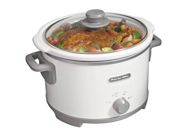 Proctor Silex 33042 4 Quart Slow Cooker, White photo