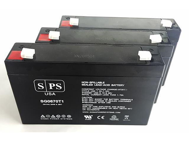 SPS Brand 6V 7 Ah Replacement Battery for Agilent Technologies 78333A MONITOR (3 Pack) (680138353386 Electronics Power) photo