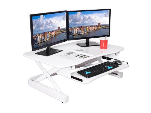 Apexdesk Zt Series Height Adjule Sit To Stand Electric Desk Converter 2 Tier Design