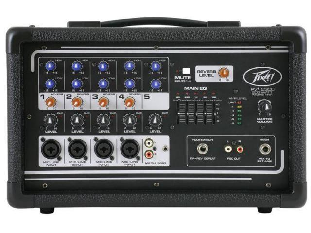 All-in-one powered mixer providing up to four combination XLR & 1/4-in inputs using premium mic prea photo