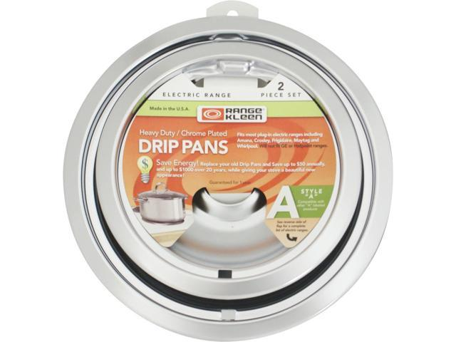 Range Kleen 12782Xcd5 Chrome Drip Pans - Plug-In Ranges; Fits Most Amana, Crosley, Frigidaire, M photo