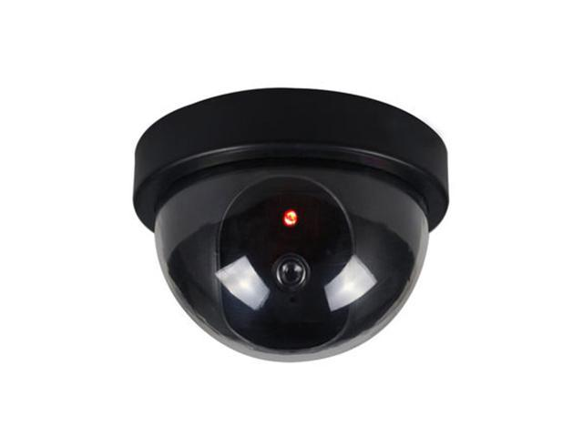 Dummy imitation surveillance cctv home security dome camera with led light
