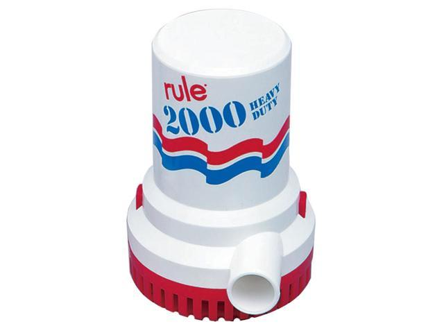 RULE 2000 GPH NON AUTOMATIC BILGE PUMP 12V photo