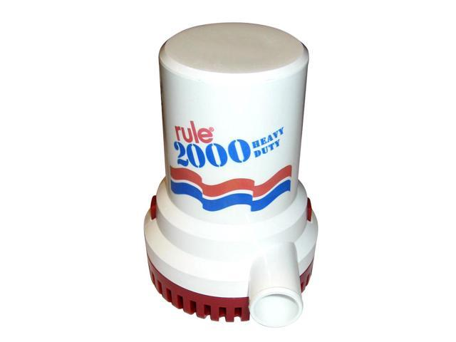 RULE 2000 GPH NON AUTOMATIC BILGE PUMP 24V 12 photo