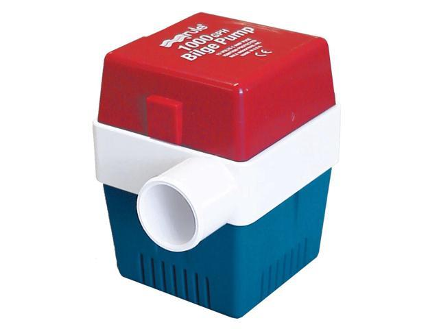 RULE 1000 GPH NON AUTOMATIC SQUARE BILGE PUMP 1-1/8 OUT photo
