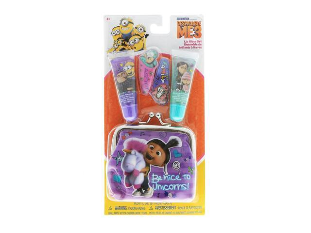 Despicable Me Minions Lip Gloss 2pk With Girls Coin Purse and Hair Clips (719565384271 Home & Garden Household Supplies) photo
