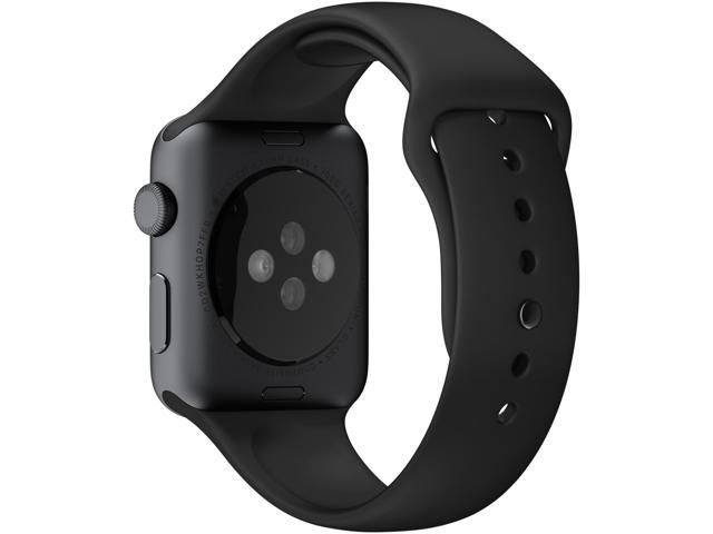 Apple 42mm sport band - watch strap - black with space grey steel pin - for watch (42 mm)