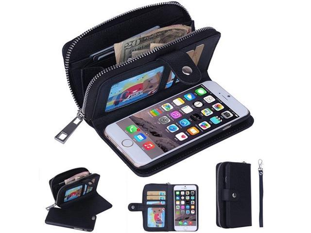 check out 87e6e d5ab0 Wristlet Zipper Leather Clutch Phone Case For Samsung Galaxy S8 Plus S7  Edge,S6 Plus,S7,iPhone 7 Plus iPhone 6S Plus iPhone 6 Plus - Newegg.com