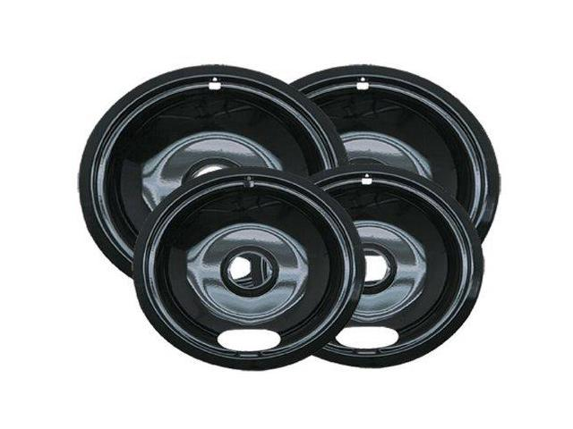 Range Kleen P10124XN Universal Porcelain Drip Pans - Four Pack photo