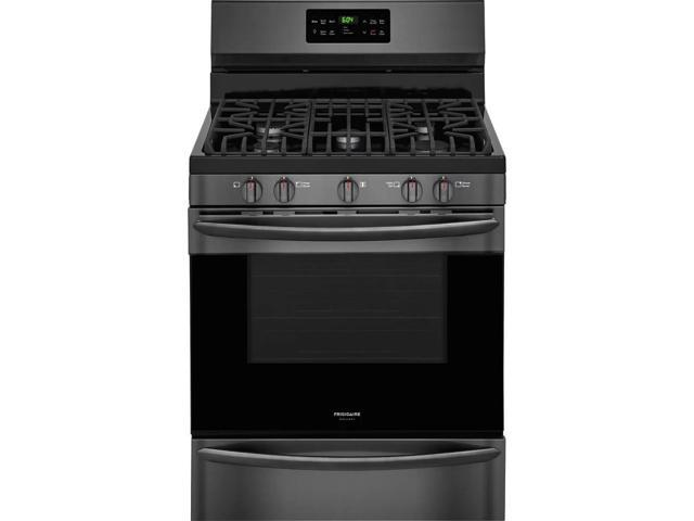 Frigidaire Gallery FGGF3036TD 30 inch Black Stainless Freestanding Gas Range photo