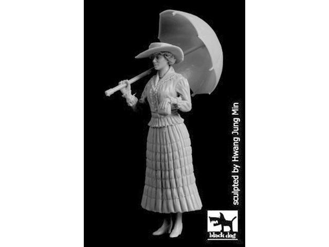 Black Dog 1/32 Lady with Umbrella WWI Woman in Dress carrying Purse F32093 (993343659113 Toys & Games Toys Educational Toys) photo