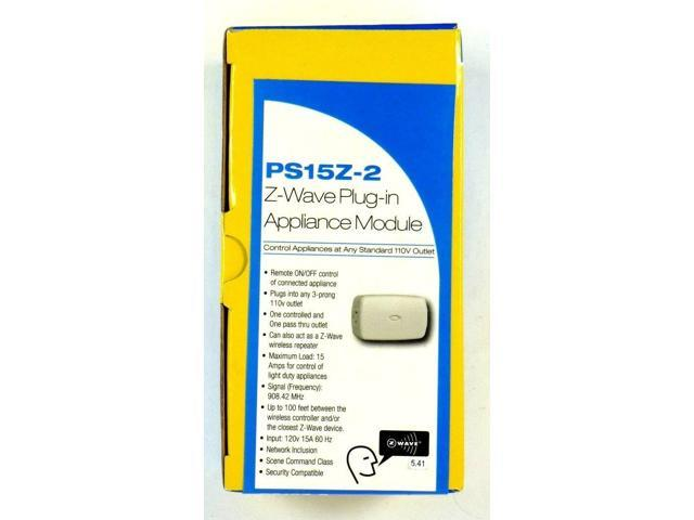 PS15Z-2 LINEAR Z-Wave Wireless Remote 15A 120V Plug-In On/Off Appliance Switch photo