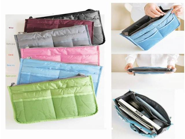 Large Insert Handbag Organiser Purse liner Organize Tidy Travel Storage Bag (Home & Garden Household Supplies) photo