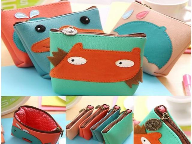 Mini Cute Cartoon Animal Women Lady Key Coin Case Bag Wallet Zipper Pouch Purse (Home & Garden Household Supplies) photo