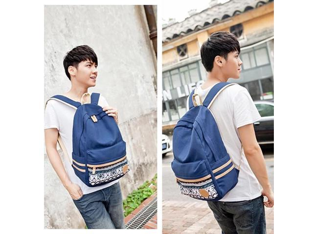 Casual Style Lightweight Canvas Laptop Bag/ Shoulder Bag/ Bookbag/ School Backpack with Cross-body Bag and Purse/Pen Bag (571848727379 Luggage & Bags) photo