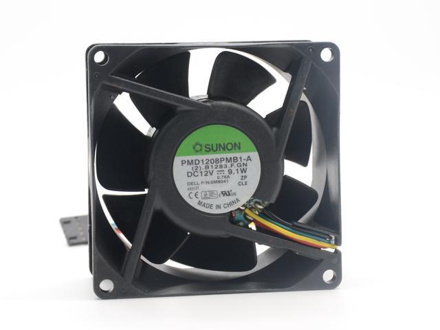 RiblessTach PWM IP68 24VDC Sanyo Denki 9WL0824P4J001 DC Fans 80x25mm
